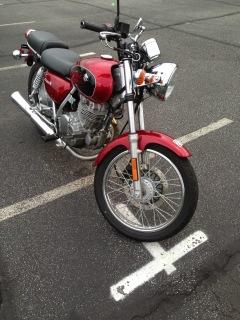 Tony Sarrecchia's first adventure on a motorcycle